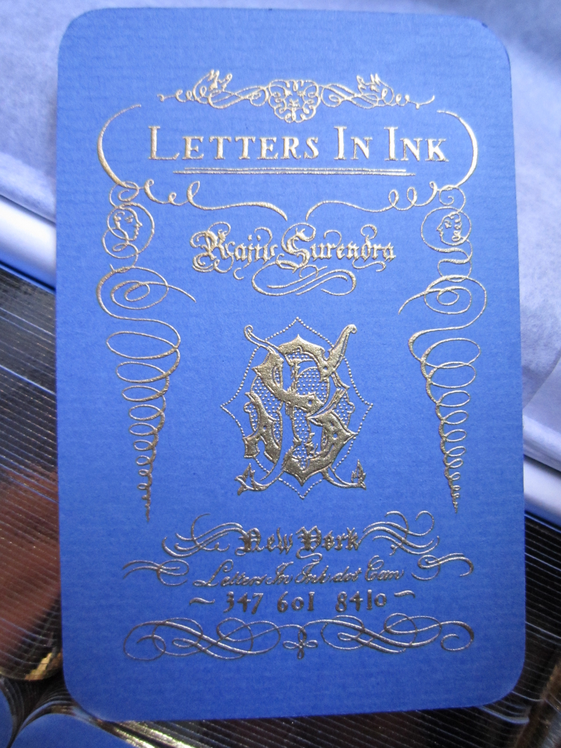 Business cards letters in ink img2710 magicingreecefo Image collections